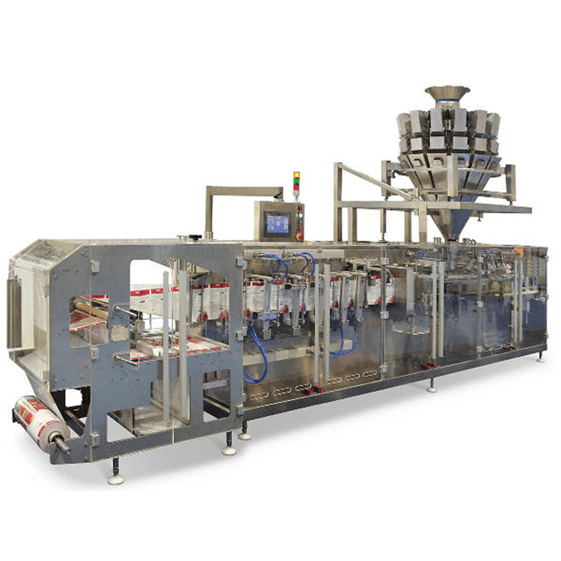 Granule doypack H.F.F.S. Pouch Packaging Machine horizontal food snack granule doypack packing machine with multi heads weighing system