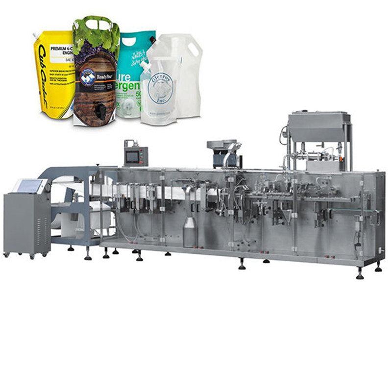 Paste ketchup standup bag H.F.F.S. Pouch Packaging Machine ketchup doypack standup pouch packaging capping machine for bag pouch with caps