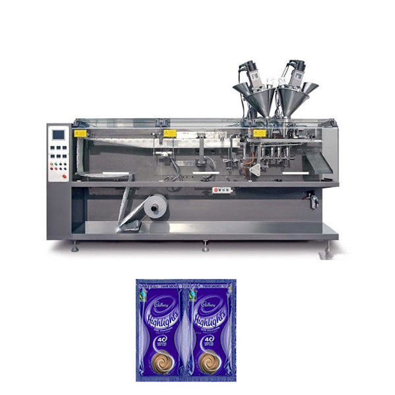 Twin-sachet H.F.F.S. Pouch Packaging Machine automatic form fill seal twin-sachet horizontal packing machine