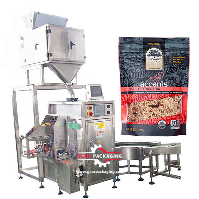 Powder fine granular Pre-Made Pouch Packaging Solutions coffee powder bag given packing machine