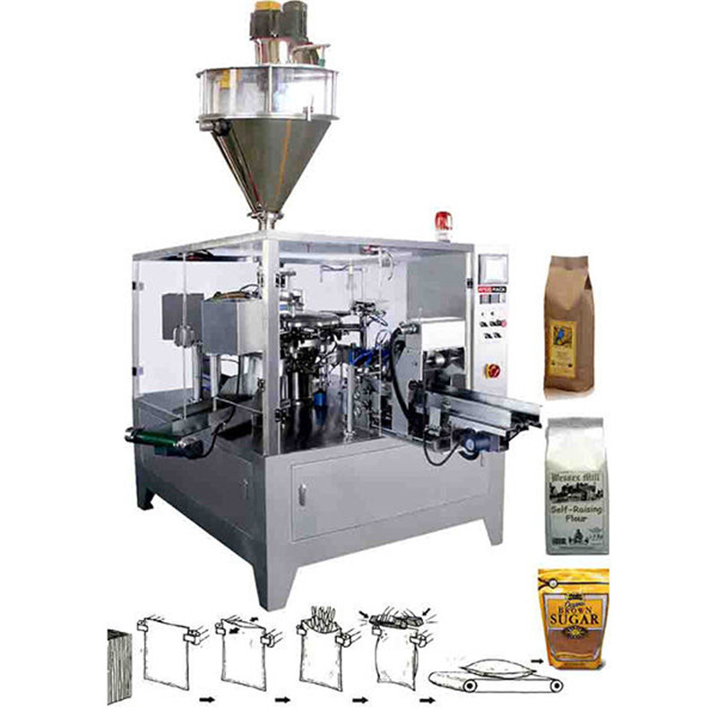 Full automatic powder packaging machinery Pre-Made Pouch Packaging Solutions