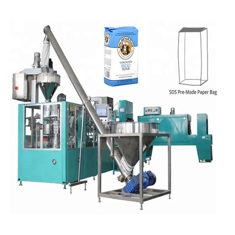 Paper bag pouch H.F.F.S. Pouch Packaging Machine automatic paper bag packaging line for flour powder