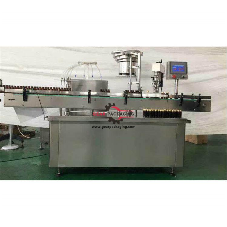 Automatic four heads syrup bottle filling ROPP sealing machine