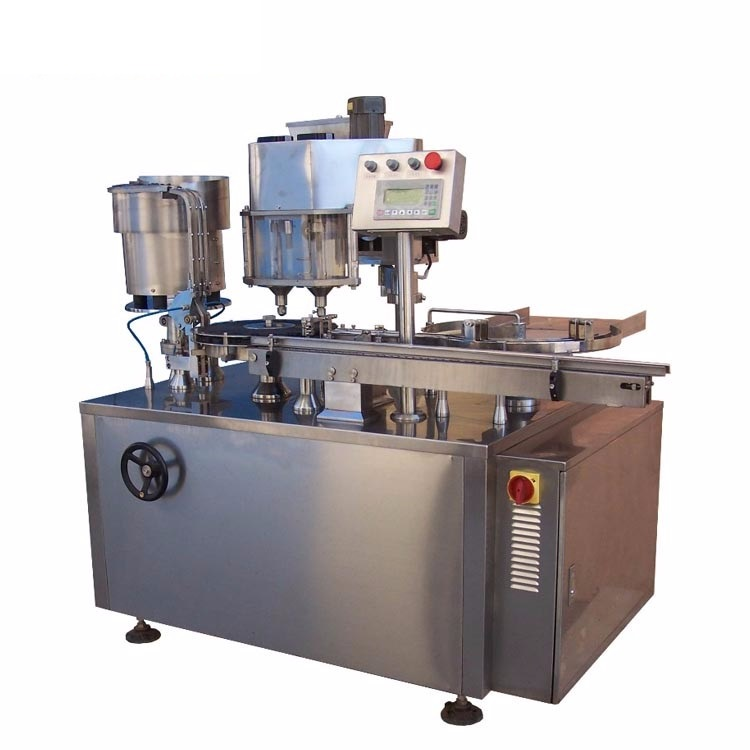 Antibiotic glass bottle powder filling rubber stopper sealing capping machine