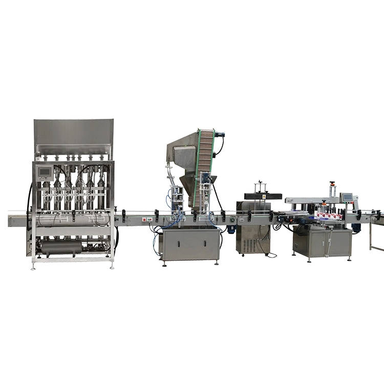 Automatic high viscosity tomato sauce food bottle filling capping sealing labeling machine