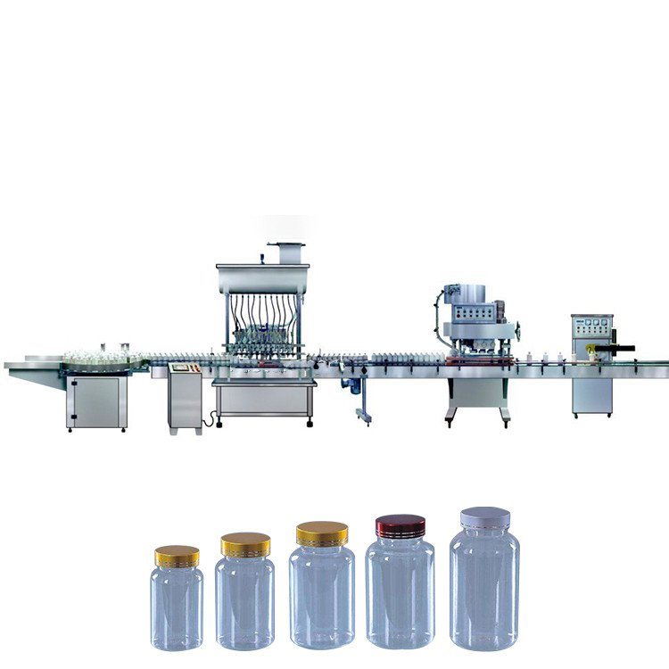 Automatic small oil liquid filling capping labeling sleeving sealing machine