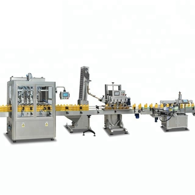 Automatic shampoo lotion oil 4 or 6 heads bottle filling capping sealing machine