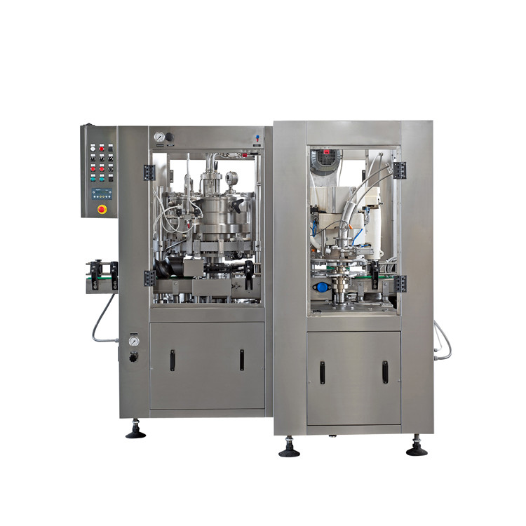 Automatic 12 heads beer tin can filling sealing seaming machine