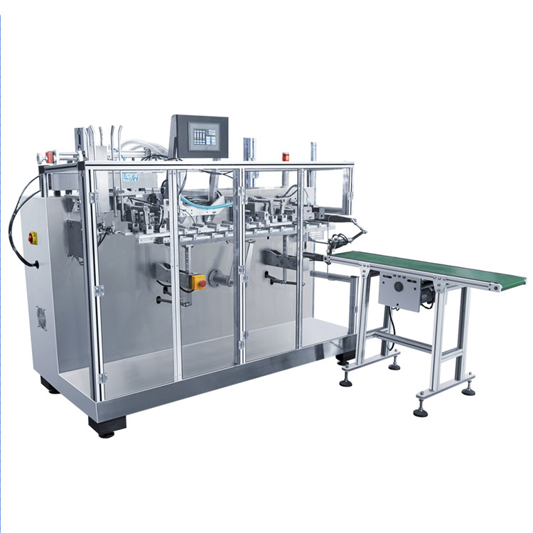 Automatic horizontal bag premade pouch filling sealing packaging machine